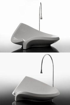 Countertop ceramic #washbasin LIED by Valdama #bathroom #minimal #design