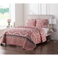 Phoebe Reversible Quilt Set by VCNY - PHO-2QT-TWXT-IN-OI