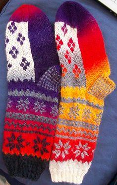 Ravelry: CablingKaren's Variegated Fair Isle Socks