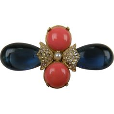 Colorful Cabochon Brooch