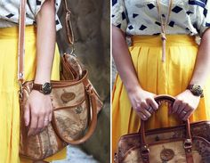 I love the yellow skirt and the harry potter watch