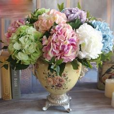 GNW FL-HY46-19CM New fashion Various color lifelike Hydrangea flower for Sale