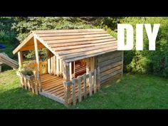 Bauen mit europaletten spielhaus kinder errichten - Spielhaus aus paletten ...