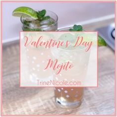 Valentine's Day Mojito - Rosé Champagne Mojito with Champagne Syrup - Valentine's Day Cocktail - Mixology - TrineNicole.com Blog - Pink Drinks Fun Cocktails, Cocktail Drinks, Rose Champagne, Fresh Mint Leaves, Pink Drinks, Different Recipes, Mojito, Syrup, Something To Do
