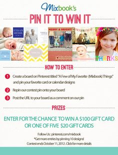 Pin your favorite Mixbook designs for a chance to win a $100 Mixbook gift card!