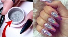 Holographic Nail Pigment Powder - This stuff is plain magic.  Just brush on and blow off the excess, seal with top coat.