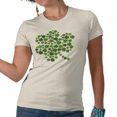 Shamrocks in a Shamrock T Shirts #stpatricksday #stpattys #stpattysday #irish #green #shamrock #zazzle #sweepstakes