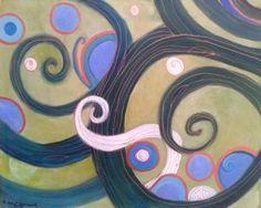 """Saatchi Art Artist Agata Padol; Painting, """"The blue pearl"""" #art"""