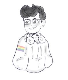 Michael Mell because I freaking love him(and yes, that is indeed a pride flag in his hoodie) By @Pieslee