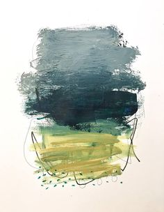 Original Abstract Painting on paper modern home decor art