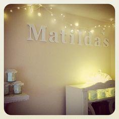 Fairy lights at Matilda HQ - home of Miss Matilda's online boutique