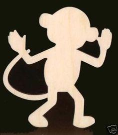 Free Cutouts of Shapes | Monkey Shape Unfinished Craft Wood Cutout 1485 3 5 | eBay