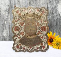 Hey, I found this really awesome Etsy listing at https://www.etsy.com/listing/247540944/calendar-vintage-etched-painted-brass-84
