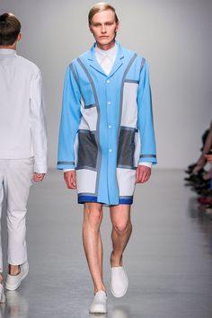 Agi & Sam Spring/Summer 2014<--- is so ugly! I am as gender confused on this outshit as you are...the Harry's Big and Tall Color Block look may work for football players but not the runway or any day...hideous
