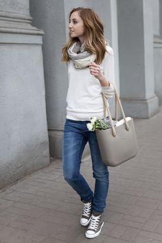 64a3c86581d converse sneakers and loose jeans. Janice de Guzman · Converse high cut  outfits