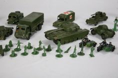 army toys | 1022: DINKY MILITARY TOYS. Metal army trucks, tanks and : Lot 1022