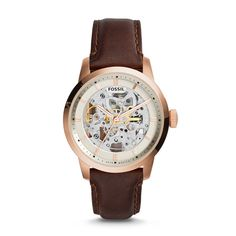 Fossil Townsman Automatic Leather Watch – Dark Brown, ME3078  FOSSIL® Watches