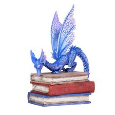 Book Dragon. This is a dragon figurine based on the artwork of well-known fantasy artist Amy Brown.