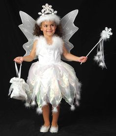Take a look at this White Snow Fairy Dress Set - Infant Toddler ...