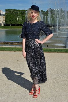 Demure for warm weather. Chanel 2013 Resort Show front row.