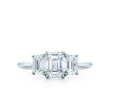 Tiffany & Co. | Engagement Rings | Emerald Cut Three Stone | United States Love the three set with emerald stones