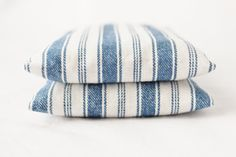 Blue and White Stripe Balsam Sachets Nautical Cottage French Country Home Decor. $20.00, via Etsy.