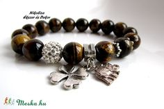 Életirány kollekció 1.- ásvány karkötő (NikoLizaEkszer) - Meska.hu Beaded Bracelets, Jewelry, Fashion, Jewellery Making, Moda, Jewels, Fashion Styles, Pearl Bracelets, Jewlery