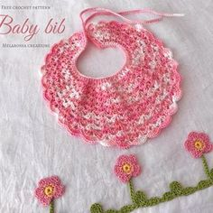 Melarossa creazioni(@melarossa_creazioni) • Instagram 사진 및 동영상 Baby Bibs, Baby Knitting, Crochet Earrings, Bibs, Baby Knits
