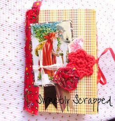 Christmas Altered Journal Vintage Style Junk by SweetlyScrappedArt