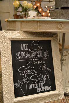 cake table & sparkler send off