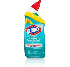 I have officially decided that the most awesome way EVER to clean your bathtub is with {drumroll, please}: Clorox Toilet Bowl Cleaner Clinging Bleach Gel...
