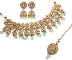 29ea43662 Gold Polki Layered Mala Necklace & Earrings | Pinterest | Antique gold,  Layering and Gold