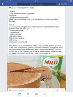 Milo cheesecake Tart Recipes, Cheesecake Recipes, Gourmet Recipes, Sweet Recipes, Baking Recipes, Cookie Recipes, Dessert Recipes, Baking Desserts, Quick Easy Desserts