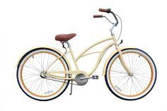 SALE sixthreezero Women's Scholar 3-Speed Beach Cruiser Bicycle, Cream, 26-Inch