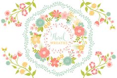 Check out Floral Vector Wreaths by Cocoa Mint on Creative Market