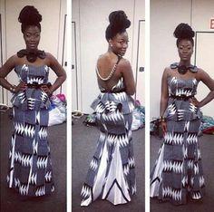 Long Gown Ankara Style - #1 Nigeria Style Blog   http://stylesonstyles.blogspot.com.ng/2015/12/long-gown-ankara-style.html