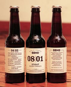 Brewing by Numbers Labels