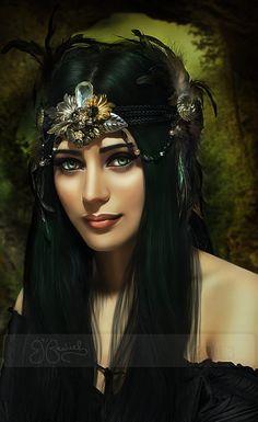 Forest Goddess by shiny-shadows.deviantart.com on @deviantART