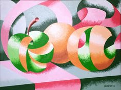 Daily Painters of California: Mark Adam Webster - Apples and Oranges Abstract Geometric Still Life