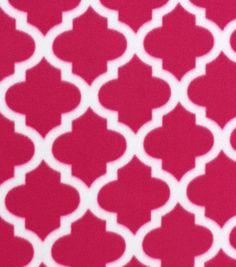 Blizzard Fleece Fabric Lavender Moroccan Tile