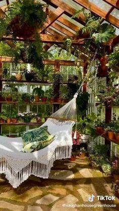 Backyard Greenhouse, Balcony Garden, Indoor Garden, Shabby Chic Greenhouse, Greenhouse Attached To House, Atrium Garden, Greenhouse Kitchen, Winter Greenhouse, Greenhouse Plants