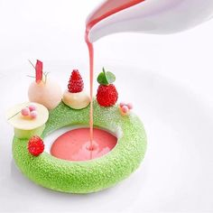 Sicilian Pistachio Parfait with Wild Strawberries and Lime By Chef Luke Armstrong Michelin Star Food, Pastry Art, Beautiful Desserts, Fancy Desserts, Food Decoration, Chocolates, Best Dishes, Culinary Arts, Plated Desserts