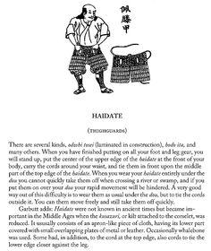 Haidate (thighguards), page 13.