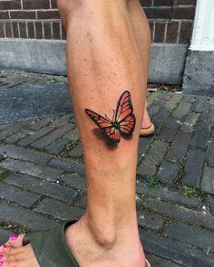 Realistic butterfly tattoo by Ryan Foley tattoo, Ryan Foley