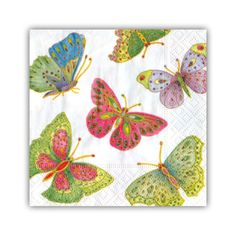 Jeweled Butterflies Cocktail Napkins