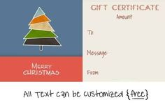 Christmas Gift Certificate Templates with a certificate maker that adds your own text. You can also add images if you want. It is free and there is no annoying registration required. Certificate Maker, Certificate Templates, Gift Certificates, Free Christmas Gifts, Free Christmas Printables, Xmas Gifts, Christmas Gift Certificate Template, Staff Motivation, Company Gifts