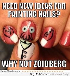 Need new ideas for painting nails – Why not Zoidberg