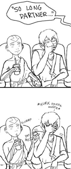 zuko finally sees toy story by *limey404 on deviantART  i love how Aang just starts patting his shoulder...