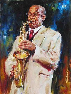 Andrew Atroshenko Jazz II [Fine Paintings - painting is a wonderful artwork! Art Paintings For Sale, Oil Painting For Sale, Portrait Paintings, Music Painting, Figure Painting, Art Expo, Jazz Art, Ecole Art, Art Plastique