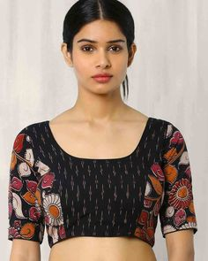 30 Timeless Kalamkari Blouse Patterns that you will love - WedandbeyondLatest Blouse Designs Of 2019 - The List Will Amaze You Buy Fashion online in India. Kurta Designs, Kalamkari Blouse Designs, Cotton Saree Blouse Designs, Blouse Patterns, Skirt Patterns, Coat Patterns, Sewing Patterns, Kalamkari Blouses, Linen Blouse